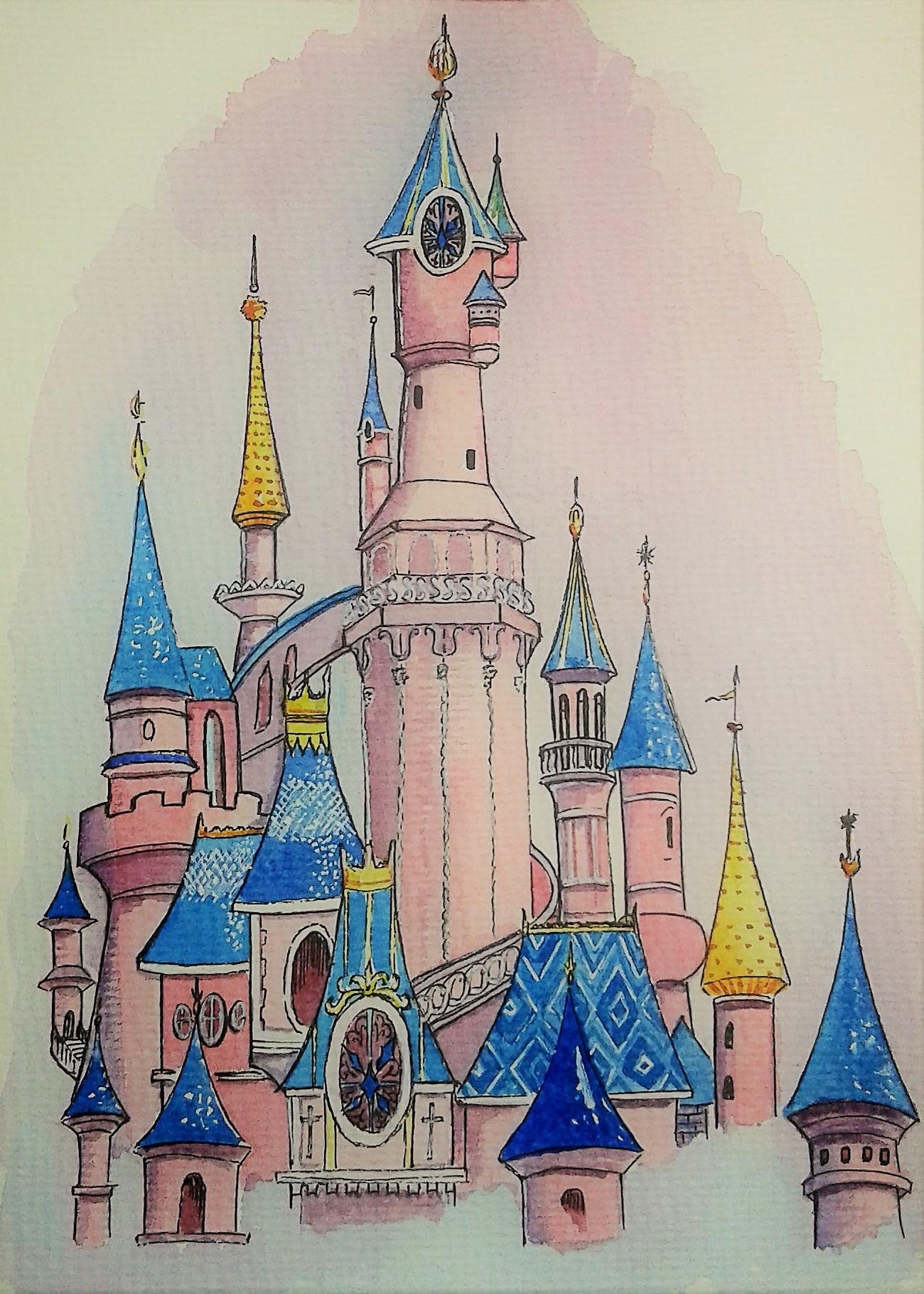 Акварельные замки