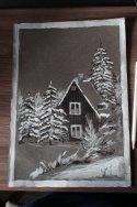 """Мастер-класс по рисованию в смешанной технике """"Домик в лесу"""""""