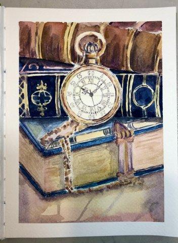 Интенсив «Сложные фактуры» урок 4 «Старинные часы»