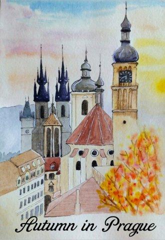 Autumn in Prague by Dina