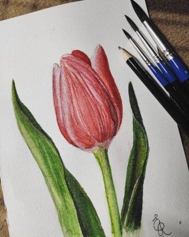 """по уроку """"Изящный тюльпан"""" #марафон_весенняя_нежность"""