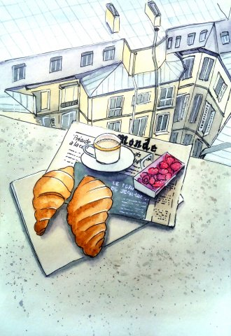 Breakfast in Paris by Dina