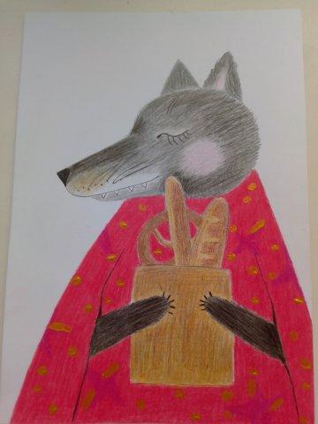 """Марафон """"Уютные иллюстрации"""" """"Волк с булочками"""""""