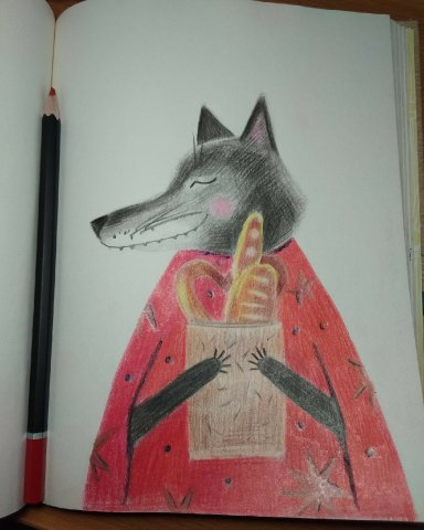 Волк с булочками