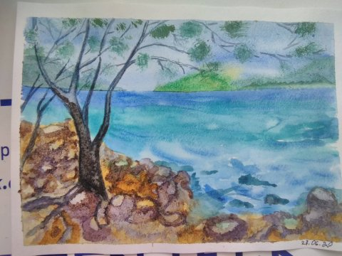 кам'янистий пляж