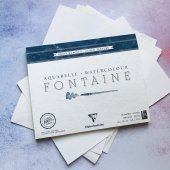 Бумага 100% хлопок форма тА3 или А4 (бумага для акварели, 300 гр/м2. Рекомендуемые производители: Clair Fontaine, Fabriano, Canson, Arches).